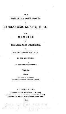The life of Smollett  by Robert Anderson  Roderick Random