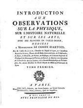 Introduction aux observations sur la physique ...