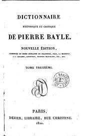 Dictionnaire historique et critique de Pierre Bayle, 13