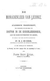 De monadenleer van Leibniz