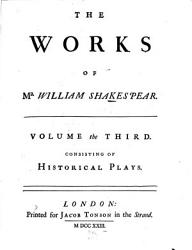 The Works Of Shakespear Book PDF