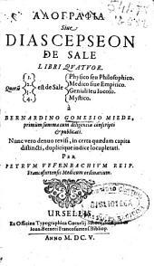 Alographia siue Diascepseon de sale libri quatuor...