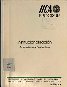 Institucionalizacion Antecedentes y Perspectivas PDF