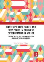 Contemporary Issues and Prospects in Business Development in Africa PDF