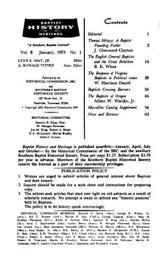 Baptist History and Heritage PDF