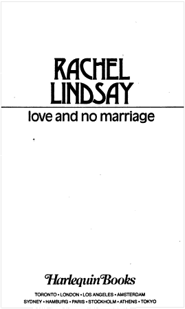 Love and No Marriage PDF