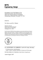 MFPG, engineering design: proceedings of the 25th meeting of the Mechanical Failures Prevention Group, held at the National Bureau of Standards ... November 3-5, 1976