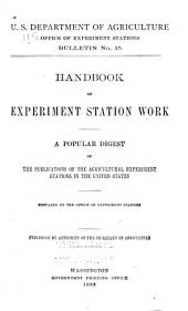 Handbook of Experiment Station Work