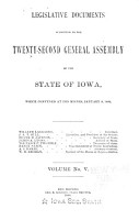 Legislative Documents Submitted to the     General Assembly of the State of Iowa PDF