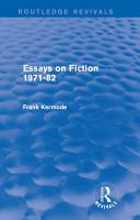 Essays on Fiction 1971 82  Routledge Revivals  PDF