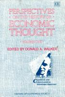 Perspectives on the History of Economic Thought PDF