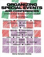 Organizing Special Events and Conferences PDF