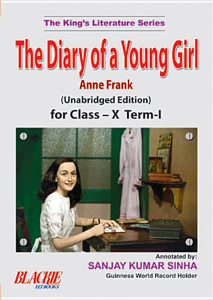 The Diary Of A Young Girl For Class     X Term I