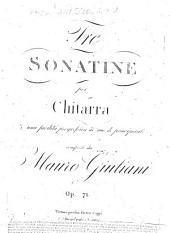 Tre sonate per chitarra: di una facilità progressiva ; ad uso de principianti ; op. 71