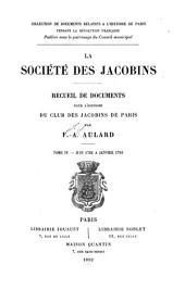 La société des Jacobins: Juin 1792 à janvier 1793