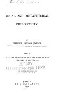 Ancient philosphy and the first to the thirteenth centuries PDF