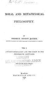 Ancient philosophy and the first to the thirteenth centuries