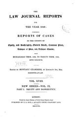 The Law Journal Reports: Volume 9, Part 1