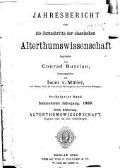 Jahresbericht über die Fortschritte der klassischen Altertumswissenschaft: 1889, Band 17;Band 60