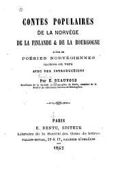 Contes populaires de la Norvège, de la Finlande et de la Bourgogne suivis de poésies norvégiennes imitées en vers avec des introductions