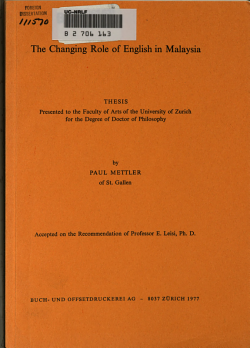 The Changing Role of English in Malaysia PDF