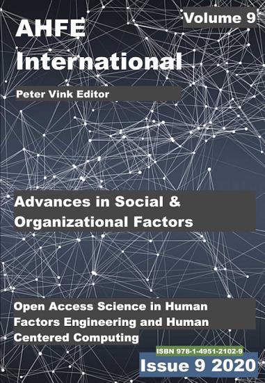 Advances in Social and Organizational Factors PDF