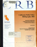 California Public Policy Bibliography PDF