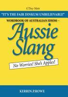 Wordbook of Australian Idiom PDF