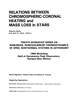 Relations Between Chromospheric coronal Heating and Mass Loss in Stars PDF
