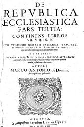 De Republica Ecclesiastica Libri X: Volume 3