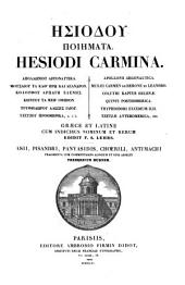 Carmina: Asii, Pisandri, Panyasidis, Choerili, Antimachi ...