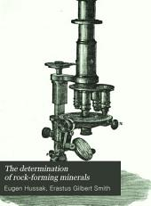 The Determination of Rock-forming Minerals