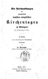 Verhandlungen des ... deutschen evangelischen Kirchentages zu ... im ....: Band 1