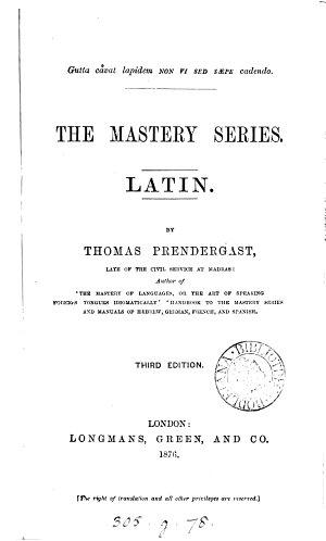 The Mastery series  Latin