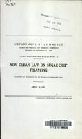 New Cuban Law on Sugar crop Financing PDF