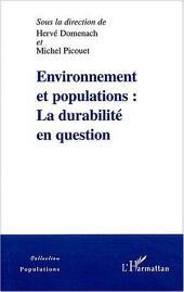 Environnement et populations: La durabilité en question