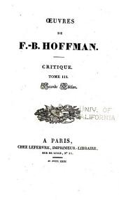 Oeuvres de F.-B. Hoffmann: Volume6