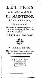 Mémoires pour servir a l'histoire de madame de Maintenon, et à celle du siecle passé: Volume7