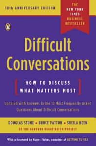 Difficult Conversations Book