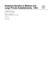 Employee Benefits in Medium and Large Private Establishments, 1995, Bulletin 2496