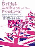 British Culture of the Post War PDF