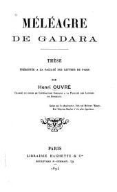 Méléagre de Gadara