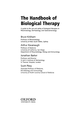 The Handbook of Biological Therapy PDF