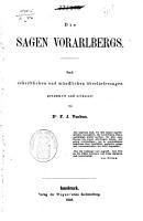 Die Sagen Vorarlbergs PDF
