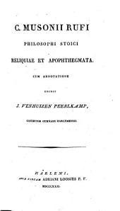 Reliquiae et apophthegmata, cum annotatione edidit J. Venhuizen Peerlkamp