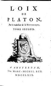 Loix de Platon: Volume2