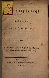 Synodalpredigt, gehalten am 16. Oct. 1821