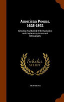 American Poems  1625 1892 PDF