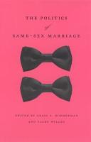 The Politics of Same Sex Marriage PDF