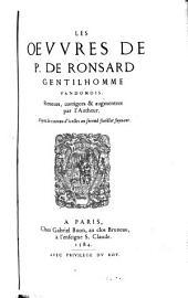 La Pléiade franc̜oise: Ronsard, Pierre De